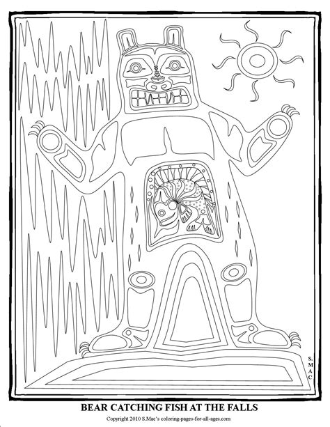 northwest indian coloring pages pacific northwest native american art coloring pages