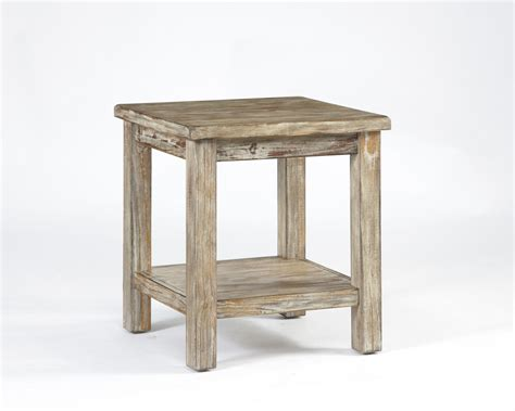 Whitewashed Coffee And End Tables Rustic Vennilux White Washed End Table