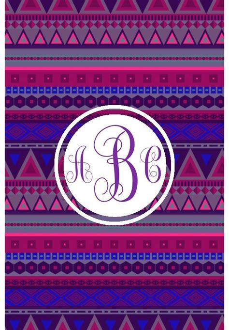 monogram app tribal monogram iphoneipad wallpaper bubba