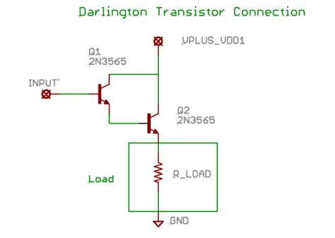 transistor darlington circuit free schematics schematic diagram d