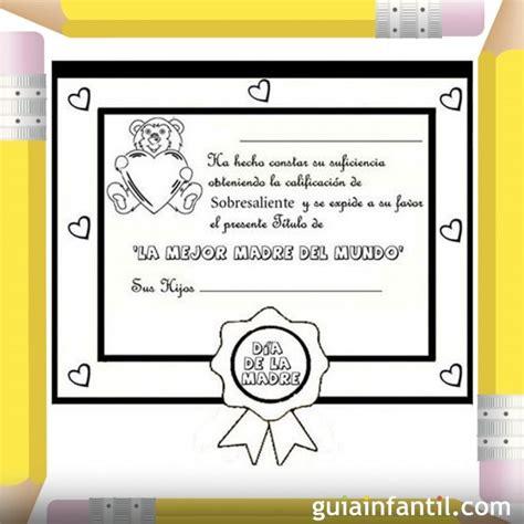 diploma madres diplomas para mama para colorear imagui
