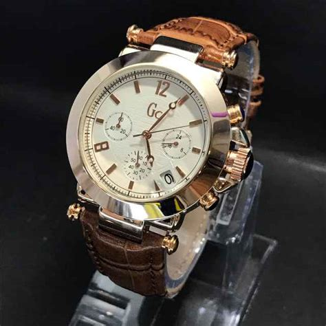 Jam Guess Collection Kulit Coklat jual jam tangan gc c 9184 chrono aktif harga murah