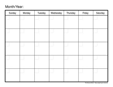 Monthly Calendar Template Free monthly calendar templates free editable calendar