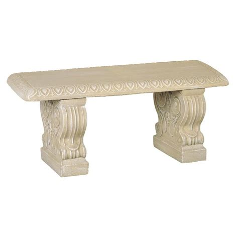 home depot garden bench straight bench desert sand 01 011313ds the home depot