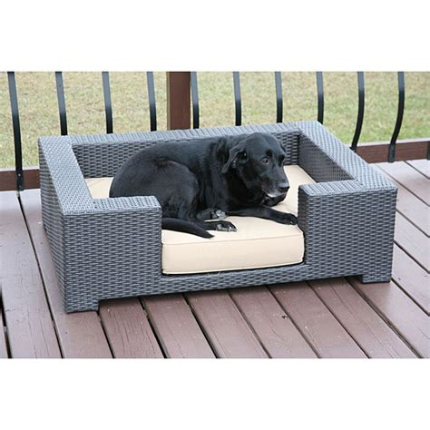 Outdoor Wicker Dog Bed Barking Mad Pinterest Outdoor Furniture For Dogs