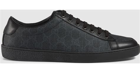 supreme clothing shoes lyst gucci gg supreme sneaker in black for