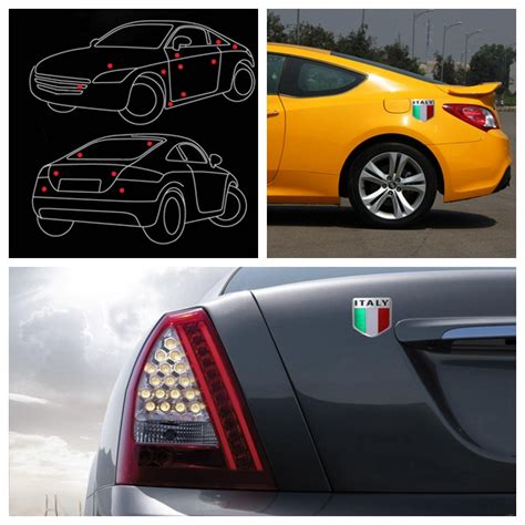 Aufkleber Entfernen Auf Metall by Italienische Flaggen Aufkleber Auto Metall I Myxlshop Tip