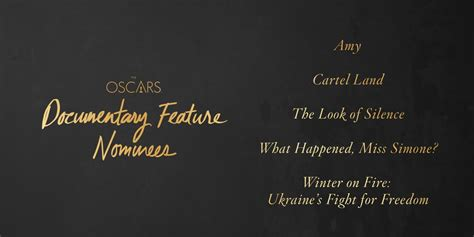 foreign language film nominations 2016 oscars oscars 2016 news making movies co production the look of silence nominated