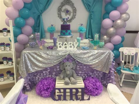 Purple Baby Shower Themes For by Elephant Theme Baby Shower Kr Kreations