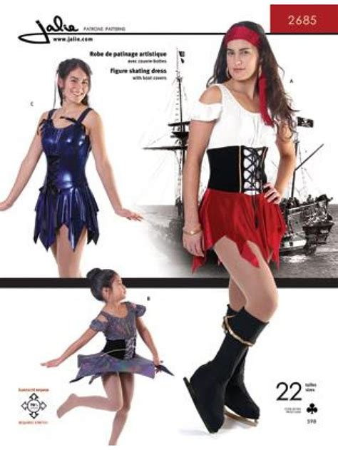 pattern for pirates sweetheart dress pirate skating dress with boot covers