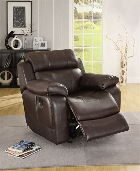 Reclining Leather Sofa Sets Sale Sale 1852 00 Marille 2pc Reclining Sofa Set In Brown Bonded Leather Match Sofa And