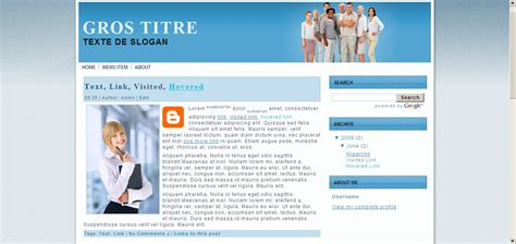 blog layout type artisteer artisteer design de site web pour photographe