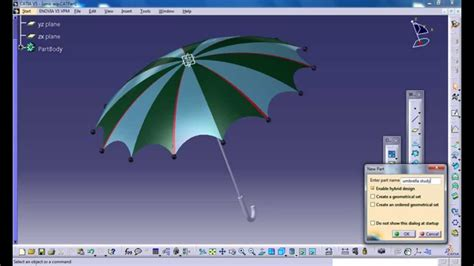 tutorial video catia v5 catia v5 tutorial how to design an umbrella p1 product