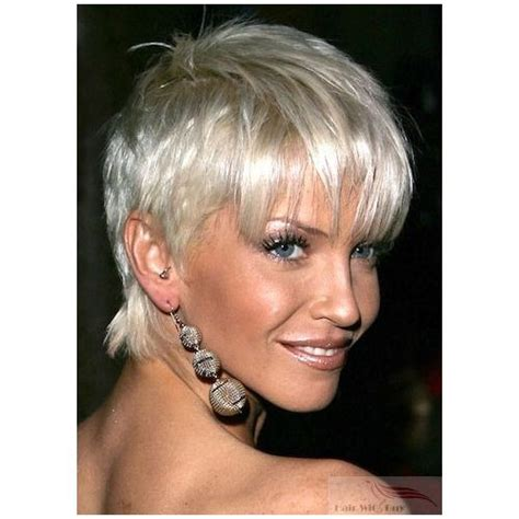 platinum blond for mature women short straight platinum blonde not fond of the fringe at
