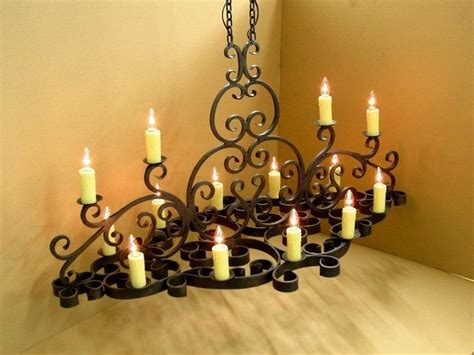 Hand Made Wrought Iron Chandelier By Jensen Design Custom Wrought Iron Chandeliers