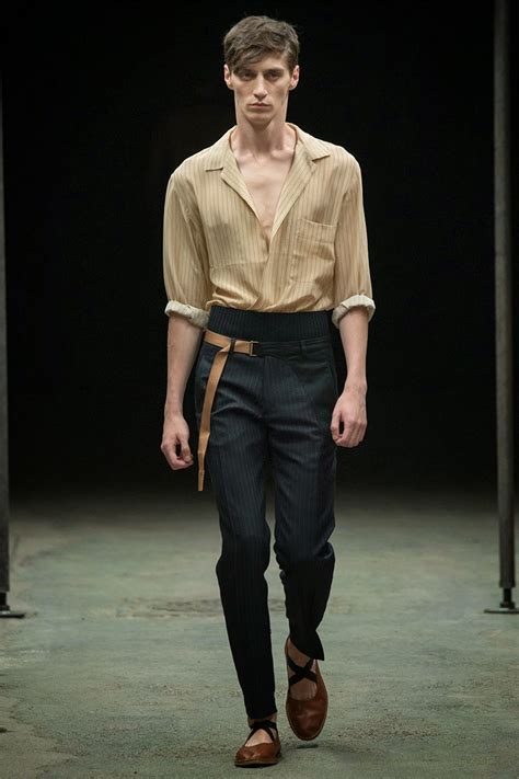 Menswear Chic At Dries Noten Gets A Twist By Wearing The Necktie Like A Harness Its A Snap To Capture The Spirit Without Breaking The Bank Fashiontribes Fashion by Kavanaghlovestory