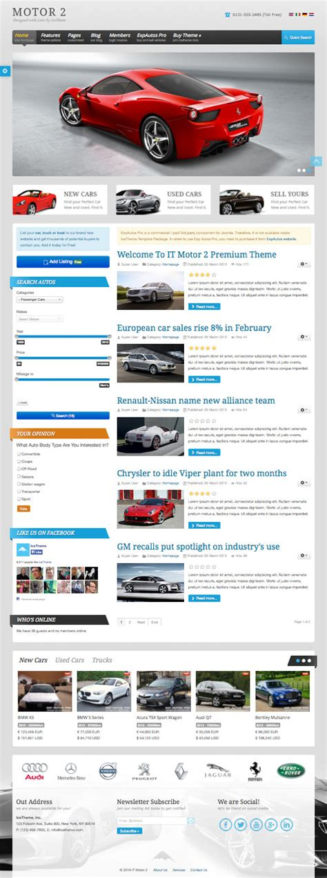 It Motor 2 Automotive Business Vehicle Showcase Template Joomla Automotive Template