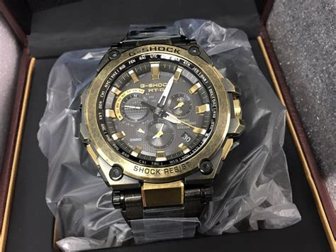 Casio G Shock Mt G Black mtg g1000bs 1aer g shock gold black aged