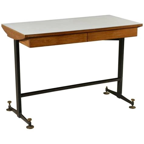 Metal Desks With Drawers by Desk With Drawers Mahogany Veneer Formica Metal Brass