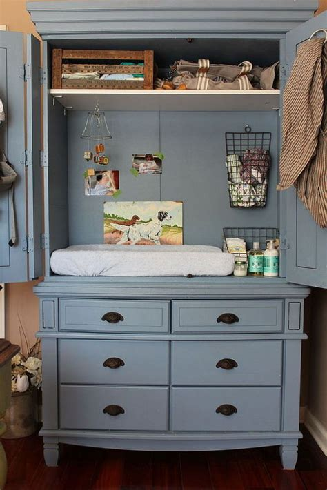 baby changing dresser with hutch entertainment armoire changing table hanging wire basket