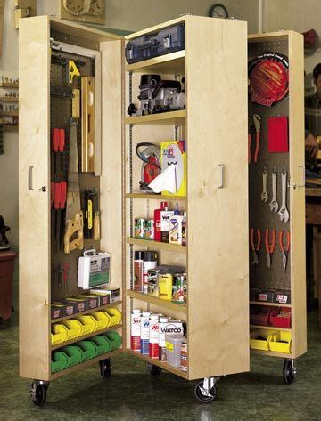 mobile tool cabinet woodworking plan shop project plan