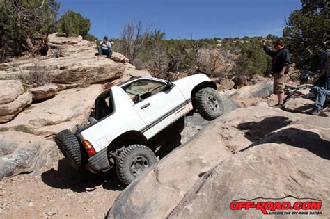 chevy tracker off road area bfe moab ride with rancho bestop and bfgoodrich off