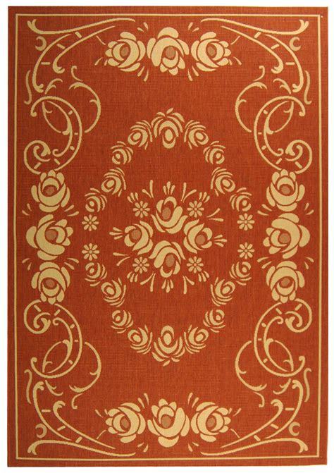 Country Style Rugs Rust Amp Beige Country Style Indoor Outdoor Rug Safavieh