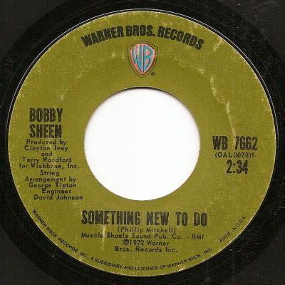 bobby sheen bobby sheen something new to do warner bros records