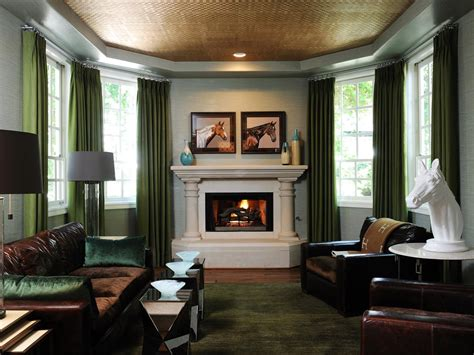 Green Themed Living Room by Photo Page Hgtv