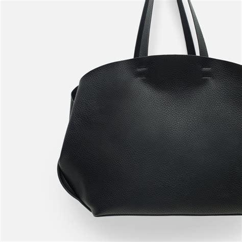 Zara Bag Black zara contrasting tote bag contrasting tote bag in black lyst