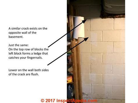 vertical in basement wall vertical cracks in concrete block walls