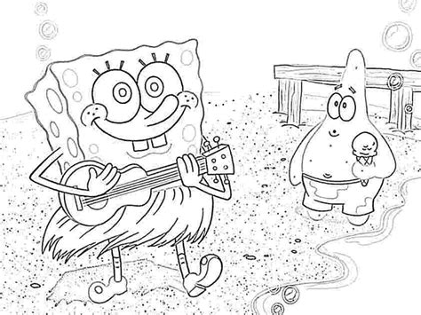 baby spongebob and patrick coloring pages coloring home