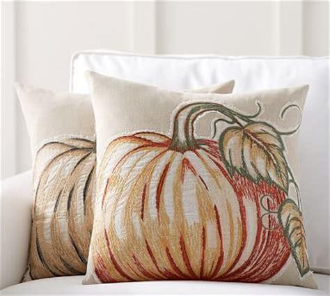Pottery Barn Pumpkin Pillow by Applique Pumpkin Pillow Covers Pottery Barn