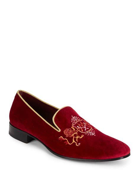 velvet slippers for lyst mezlan maurice embroidered velvet slippers