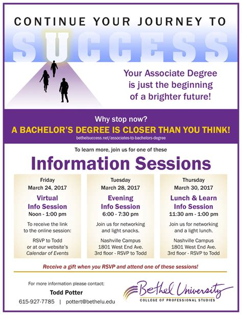 Bethel Success Mba by Info Session Bethel