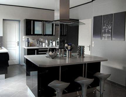 cuisine noir et gris cuisine noir gris blanc