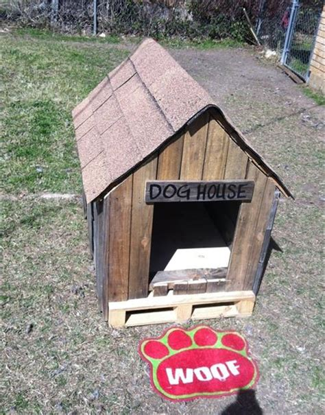 dog house with pallets diy dog house plans made from pallets pallets designs