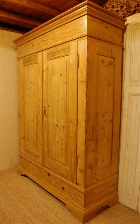 Rustic Pine Wardrobe antique rustic pine wardrobe country armoire