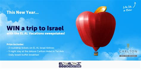 Israel Sweepstakes - win a trip for 2 to israel michael w travels