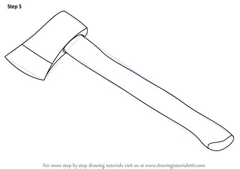 simple drawing tool learn how to draw an axe tools step by step drawing