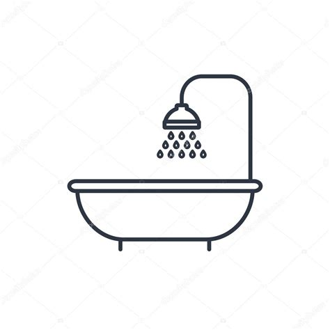 simbolo bagno icona di doccia simbolo di bagno vettoriali stock
