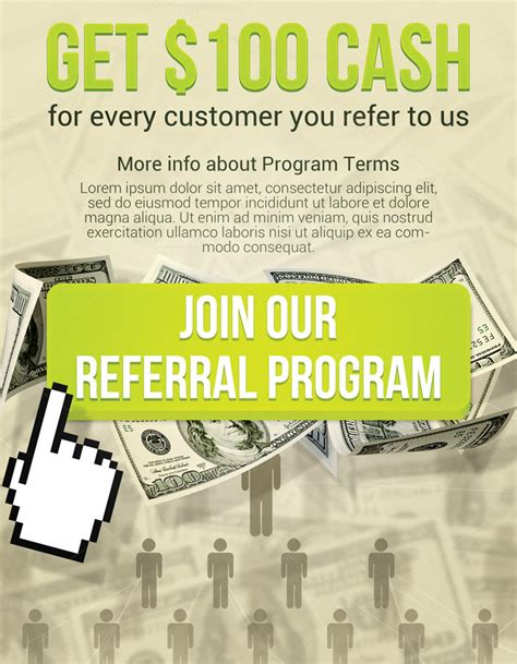 referral flyer template join referral flyer flyer templates on creative market