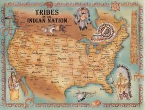 indian tribes in america map tribes of the indian nation i two large maps