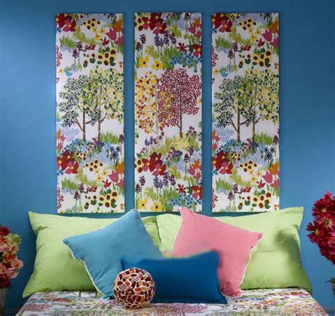 fabric crafts wall easy fabric wall home decor ideas diy ready