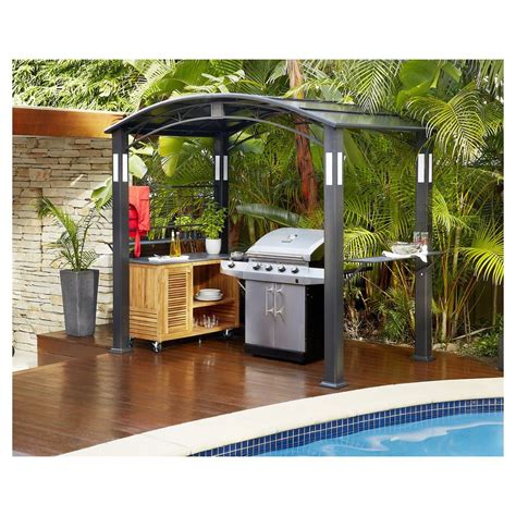 bbq gazebo finlay smith bbq metal hardtop gazebo masters home