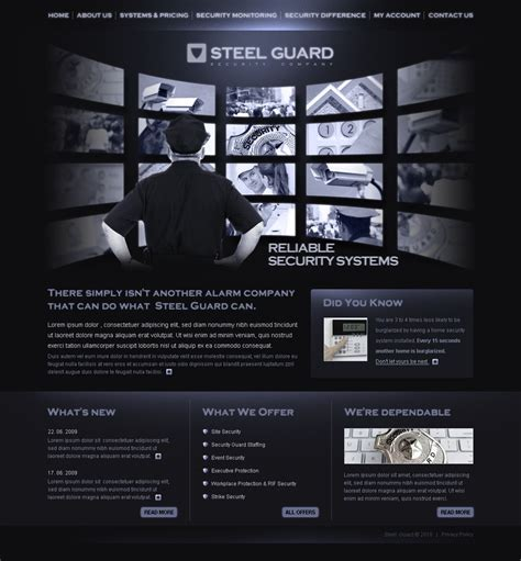 security website template web design templates website
