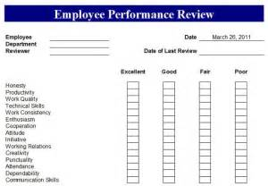 category review template free employee evaluation forms printable search