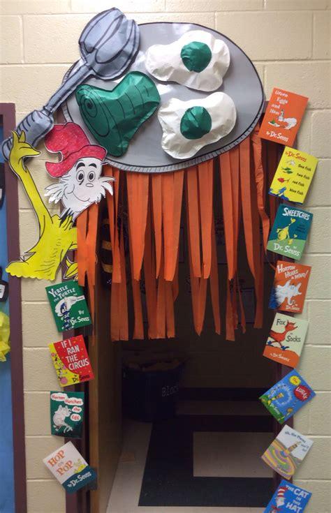 green eggs ham door decor reading dr seuss crafts