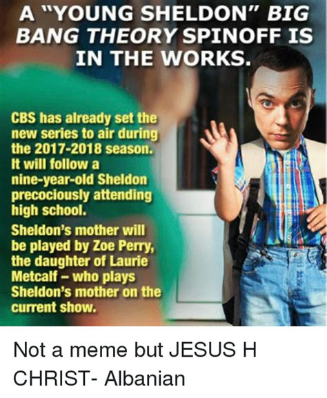 Young Sheldon Memes - a young sheldon big bang theory spin off is in the works cbs has already set the new series to