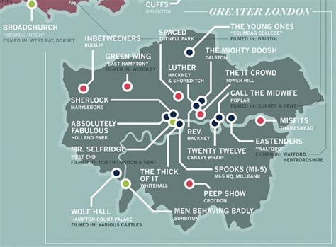 Great Britain Information Technology 1982 St Set designer creates map of tv shows set in londonist